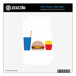 fast food meal skin for iPod touch 4G