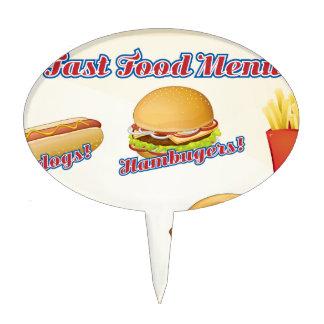 Fast food menu cake topper