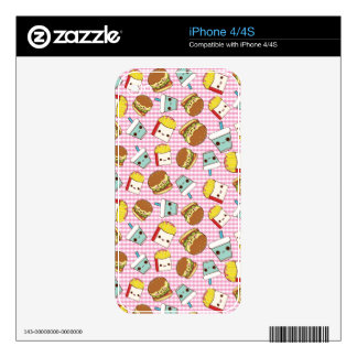 Fast Food Minis iPhone 4 Decals