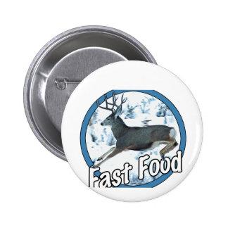 Fast Food Mule Deer Button