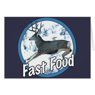 Fast Food Mule Deer Card