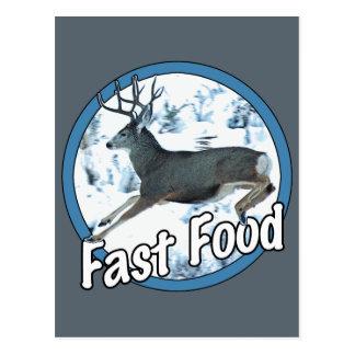 Fast Food Mule Deer Postcard