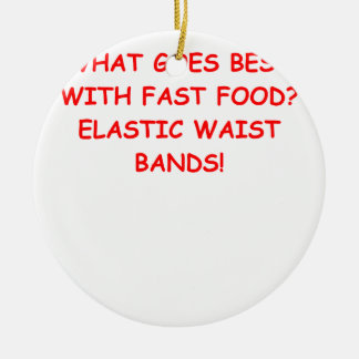 fast food Double-Sided ceramic round christmas ornament