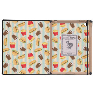 Fast Food Pattern 2 iPad Folio Case