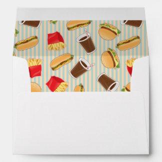 Fast Food Pattern 2 Envelope