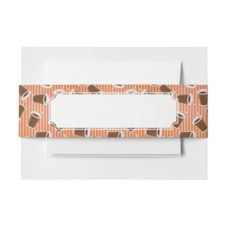 Fast food pattern 2 invitation belly band