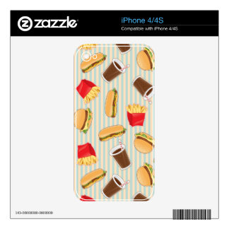 Fast Food Pattern 2 iPhone 4 Decal