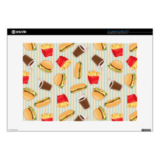 Fast Food Pattern 2 Laptop Decals