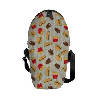 Fast Food Pattern 2 Messenger Bag