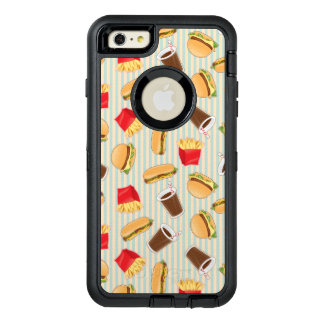 Fast Food Pattern 2 OtterBox Defender iPhone Case