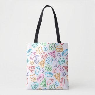 Fast food pattern 2 tote bag