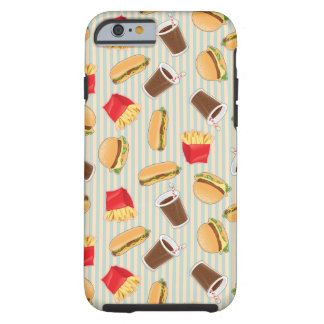 Fast Food Pattern 2 Tough iPhone 6 Case