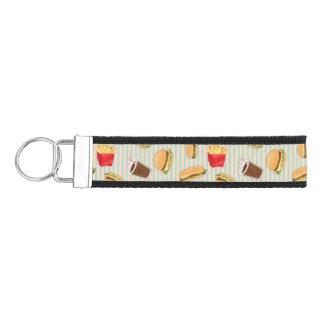 Fast Food Pattern 2 Wrist Keychain