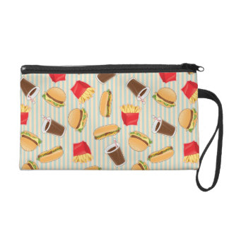 Fast Food Pattern 2 Wristlet