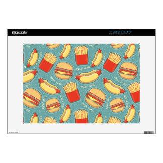 """Fast Food Pattern 3 15"""" Laptop Skins"""