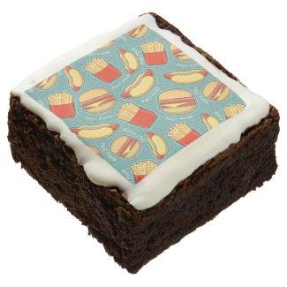 Fast Food Pattern 3 Chocolate Brownie