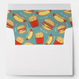 Fast Food Pattern 3 Envelope