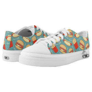 Fast Food Pattern 3 Printed Shoes