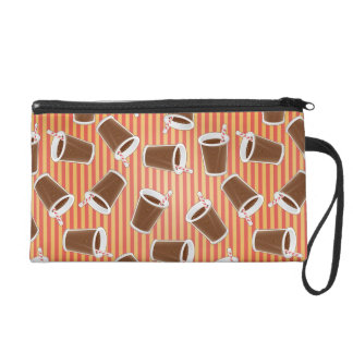 Fast food pattern wristlet clutches