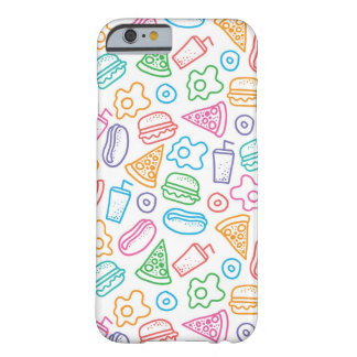 Fast food pattern barely there iPhone 6 case