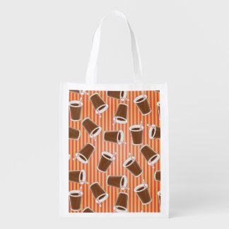 Fast food pattern grocery bags