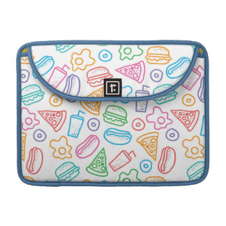 Fast food pattern sleeves for MacBook pro