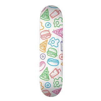 Fast food pattern skateboard deck