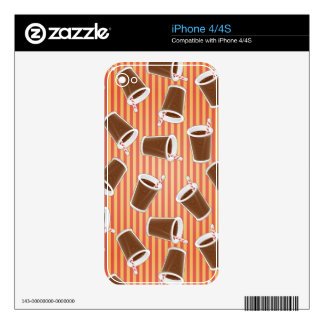 Fast food pattern skins for the iPhone 4S