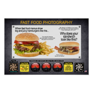 FAST FOOD PHOTOGRAPHY POSTER
