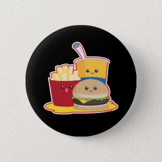 Fast Food Pinback Button
