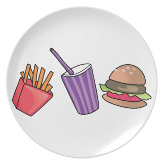 FAST FOOD PARTY PLATE