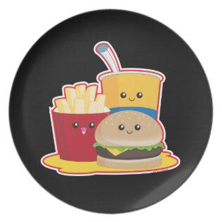 Fast  Food Dinner Plate