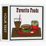 Fast Food Recipe Hamburger Hotdog Binder