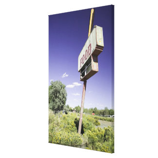 Fast food restaurant sign canvas print