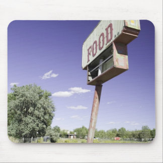 Fast food restaurant sign mouse pad