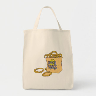 fast food side of onion rings grocery tote bag