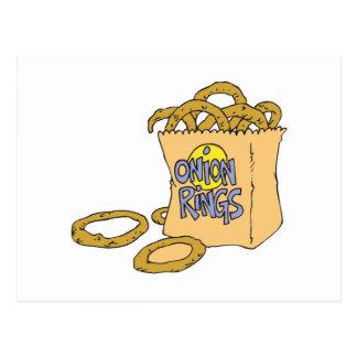 fast food side of onion rings postcard