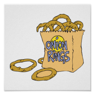 fast food side of onion rings poster