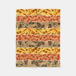 Fast Food Stripes Fleece Blanket