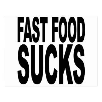 Fast Food Sucks Postcard