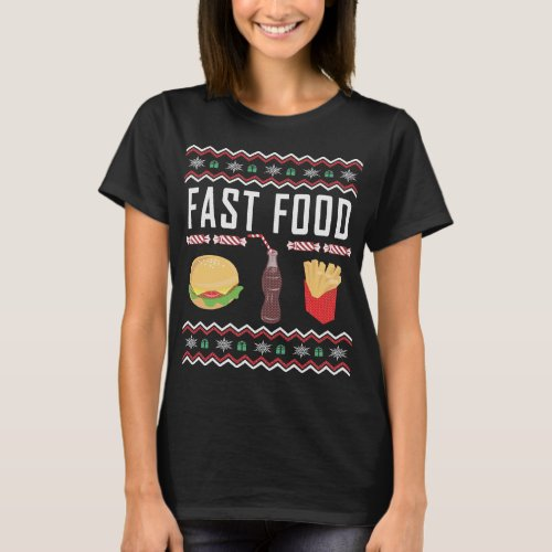 Fast Food Ugly Christmas Sweater After Christmas Sales 5667