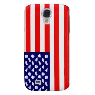 Fast Food USA Flag - Junk Food and Stripes Samsung Galaxy S4 Cover