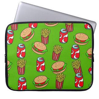 Fast Food Wallpaper Computer Sleeve