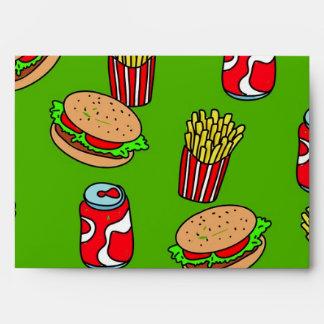 Fast Food Wallpaper Envelope