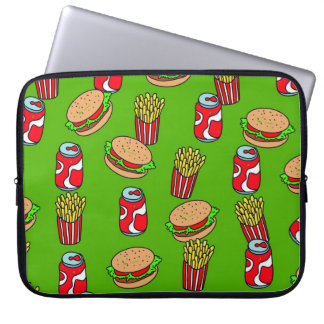 Fast Food Wallpaper Laptop Computer Sleeve