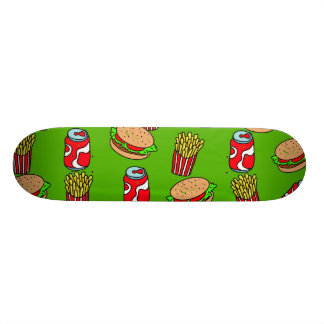 Fast Food Wallpaper Skateboard Deck