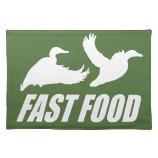 Fast food water fowl w cloth placemat