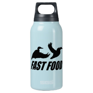 Fast food waterfowl insulated water bottle