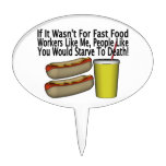 Fast Food Worker Cake Topper