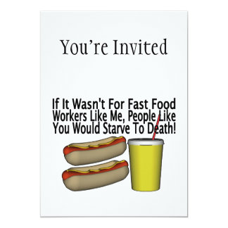 Fast Food Worker Card